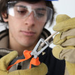 Young electrician - Stock Photo