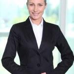Executive Woman behind railings — Stock Photo #18444349