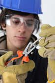 Young electrician — Stock Photo