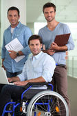 Group of three men — Stock Photo