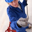 Female electrician — Stock Photo #18463227