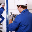 Stock Photo: Repairing electrical installations