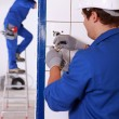 Stock Photo: Electrical work