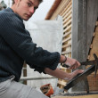 Young roofer - Stock Photo