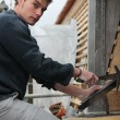 Stock Photo: Young roofer