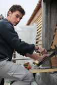 Young roofer — Stock Photo