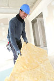 Craftsman insulating — Stock Photo