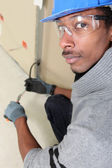 Black electrician — Stock Photo