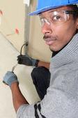 Black electrician — Stock Photo