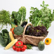 Basket of vegetables - Stock Photo