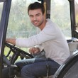 Man about to drive tractor Dubroca_Joffrey_140410 — Stock Photo #18477547