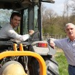 Father and son working vineyard Soumet_JJacques_140410;Dubroca_Joffrey_140410 — Stockfoto