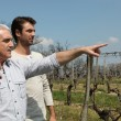 Father and son in countryside Soumet_JJacques_140410;Dubroca_Joffrey_140410 — Stock Photo