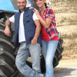 Farmer couple - Foto Stock