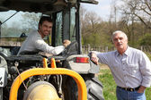 Father and son working vineyard Soumet_JJacques_140410;Dubroca_Joffrey_140410 — Stock Photo