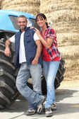 Farmer couple — Stock Photo