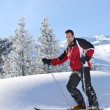 Foto Stock: Man skiing