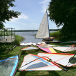 Stock Photo: Wind surfing equipment