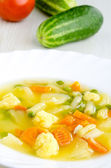 Delicious vegetable soup — Stock Photo