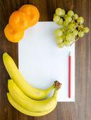 Fruit dessert recipe — Stock Photo