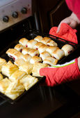 Domestic puff pastry — Stock Photo
