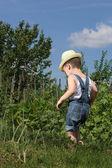 Little gardener — Stock Photo