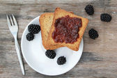 Toast with jam — Stock Photo