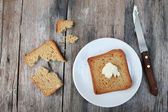 Toast with butter — Stock Photo