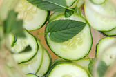 Cucumber water — Stock Photo