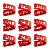 Set of sew in SALE labels — Stockvektor
