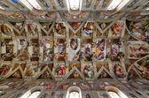 Capilla sixtina techo, vaticano, roma — Foto de Stock