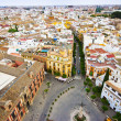 View from tower to Sevilla - Stock Photo