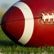 Stock Photo: Football on Field Close Up