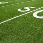 American Football Field Fifty Yard Line — Stock Photo #13440821