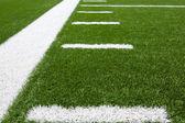 Linee cantiere campo di football americano — Foto Stock