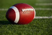 Football on the Field Close Up — Stock Photo