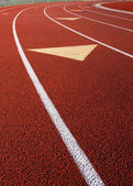 Lanes of a running track — Stock Photo