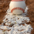 Baseball on the Chalk Line — Stock Photo #19666333