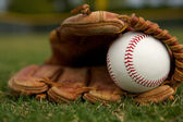 En un guante de béisbol — Foto de Stock