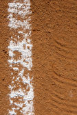 Baseball Field Chalk Line — Stock Photo