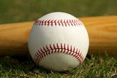 Baseball & Bat — Stock Photo