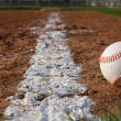 Baseball in the Infield — Stock Photo