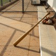 Baseball Bat and Glove in the Dugout — Stock Photo #19677805