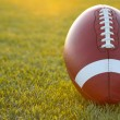 Backlit Collegiate Football - Stock Photo
