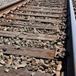 Curving Railroad Track — Stock Photo