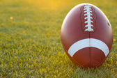 Backlit Collegiate Football — Stock Photo