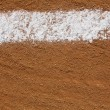 Baseball Infield Chalk Line — Stock Photo