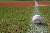 野球、チョーク ラインで — ストック写真
