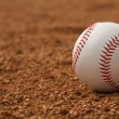 Baseball on the Infield Dirt — Stock Photo