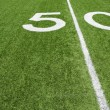 Stock Photo: AmericFootball Fifty Yard Line